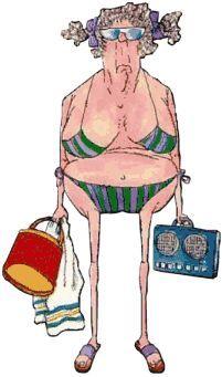 midlife bikini woman