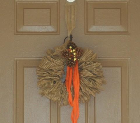 Fall Decorating and Craft Ideas | DIY Burlap Wreath